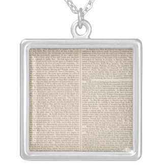Distribution of Heat over the Globe continued Square Pendant Necklace