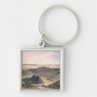 Ditch of the Malakoff, plate from 'The Seat of War Silver-Colored Square Key Ring