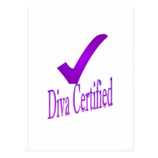 Diva certified  2nd Edition Postcard