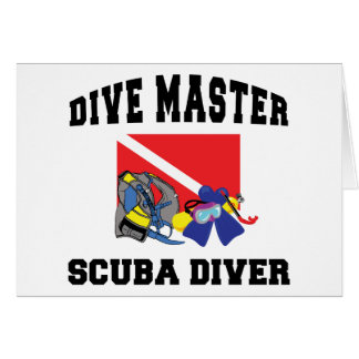 Dive Master SCUBA Diver Greeting Card
