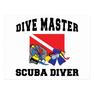 Dive Master SCUBA Diver Postcard