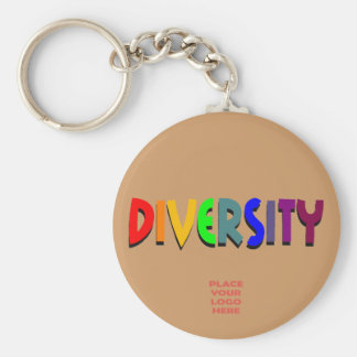 Diversity Custom Raw Sienna Keychain