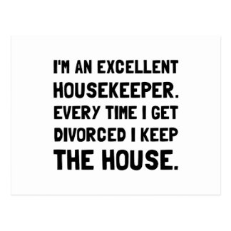 Divorced Housekeeper Postcard