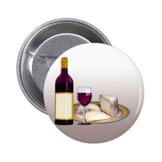 DIY WINE BOTTLE LABEL, WINE GLASS, CHEESE PERSONAL 6 CM ROUND BADGE
