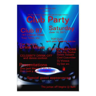 DJ Club Party Invitation