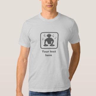 DJ / Disc Jockey -- Grey Logo -- Customizable T-shirts