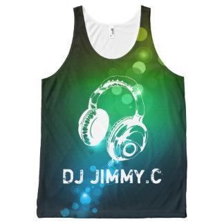 DJ Headphones PersonAlized Music TSHIRT All-Over Print Tank Top