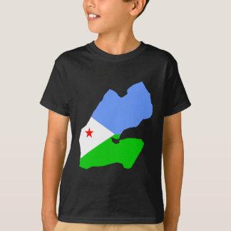 Djibouti flag map tshirt