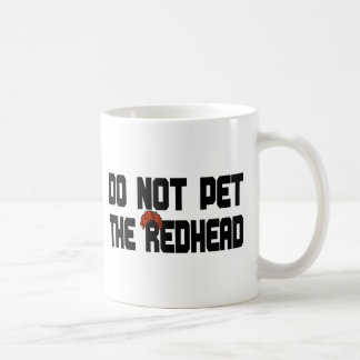 Do Not Pet The Redhead (w/ Wig) Basic White Mug