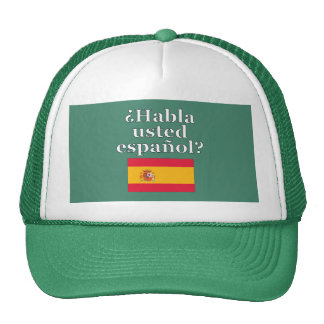 Do you speak Spanish? in Spanish. Flag Cap