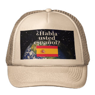 Do you speak Spanish? in Spanish. Flag & Earth Cap