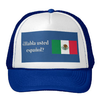 Do you speak Spanish? in Spanish. Flag wf Cap