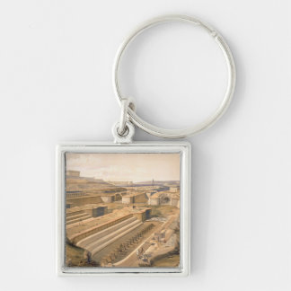 Docks at Sebastopol, plate from 'The Seat of War i Silver-Colored Square Key Ring