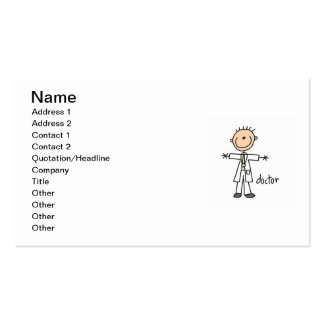 Doctor Stick Figure Pack Of Standard Business Cards