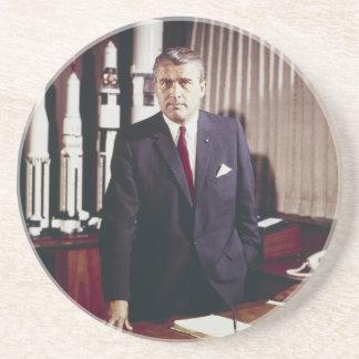 Doctor Wernher von Braun Portrait Drink Coaster