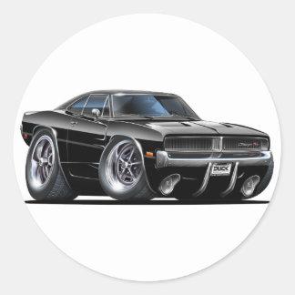 Dodge Charger Black Car Round Sticker