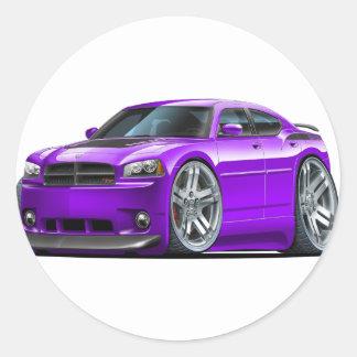 Dodge Charger Daytona Purple Car Round Sticker