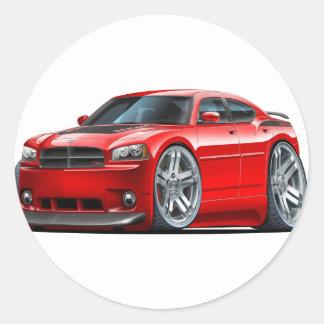 Dodge Charger Daytona Red Car Round Sticker
