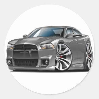 Dodge Charger SRT8 Grey Car Round Sticker