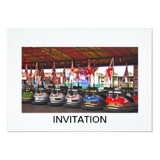 Dodgem Cars at a Funfair INVITATION