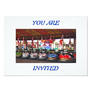 Dodgem Cars  YOU ARE INVITED Invitation