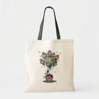 Dodo in Teacup with Dragonflies Budget Tote Bag