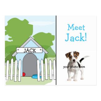Dog Announcement - Boy Postcard