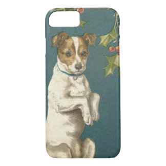 Dog Begging Holly Christmas Greetings iPhone 7 Case