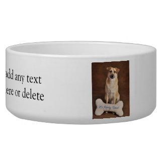 Dog & Bone Party Design Pet Food Bowl