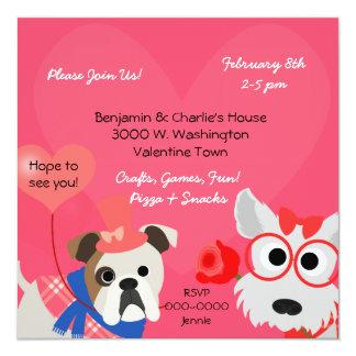 Dog-gone Fun Valentines Day Party Invitation