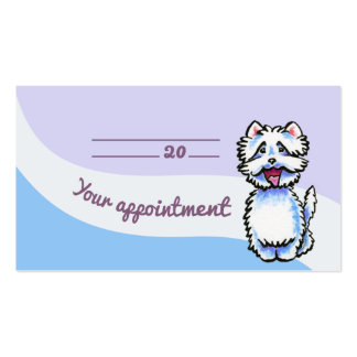 Dog Groomer Chic Westie Appointment Card Pack Of Standard Business Cards