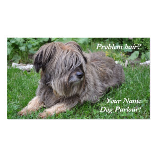 Dog grooming hairy sheepdog pack of standard business cards