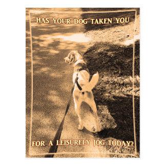 Dog Jog Postcard