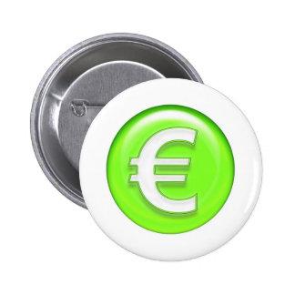 dollar  sign 6 cm round badge