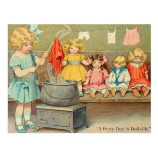 Dolly Laundry Postcard