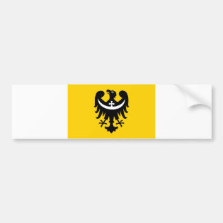 dolnoslaskie flag poland region county bumper sticker