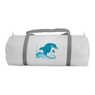 Dolphin Design Gym Swim Bag Gym Duffel Bag