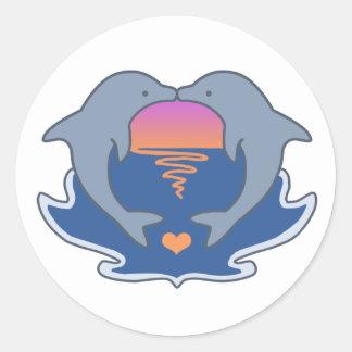 Dolphin Love Sticker