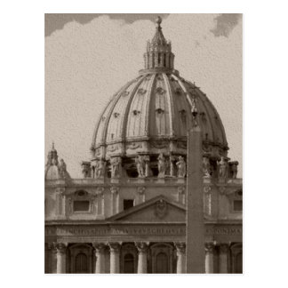 Dome of St Peters Basilica Rome Travel Postcard