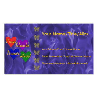 Domestic Violence Awareness Pack Of Standard Business Cards
