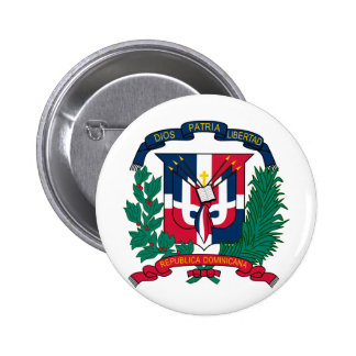 Dominican Republic Coat of arms  DO 6 Cm Round Badge