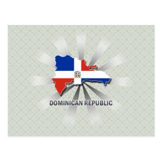 Dominican Republic Flag Map 2.0 Postcard