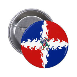 Dominican Republic Gnarly Flag 6 Cm Round Badge
