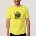 Don Quixote and Sancho Panza ink pen drawing art Tshirt