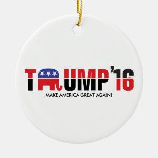 Donald Trump 2016 - Make America Great Again! Round Ceramic Decoration