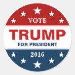 Donald Trump 2016 Presidential Campaign Flag Stars Round Sticker