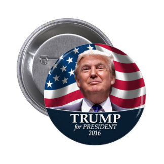 Donald Trump Photo - President 2016 6 Cm Round Badge