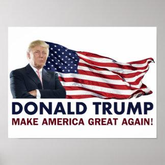 Donald Trump US Flag Poster