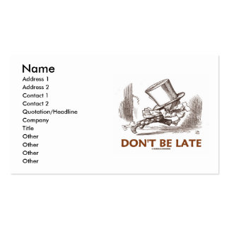 Don't Be Late (Mad Hatter Wonderland) Pack Of Standard Business Cards