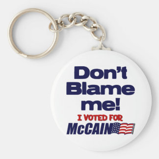 Don't Blame Me! Basic Round Button Key Ring